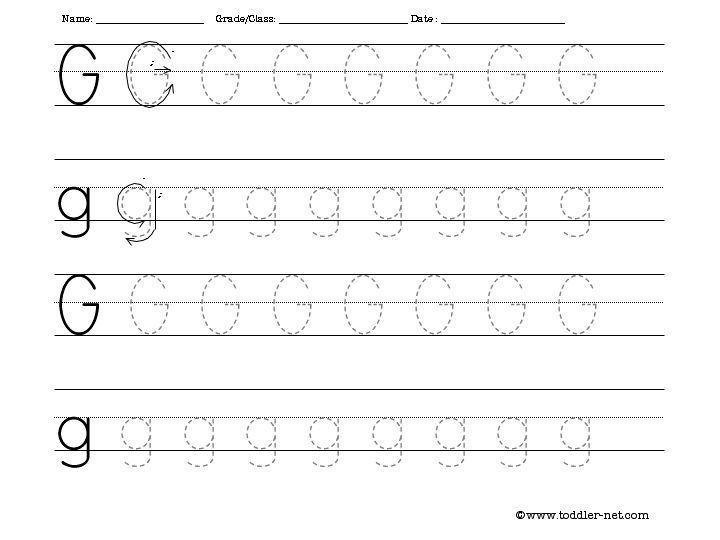 Printables  Letter G Worksheets  Gotaplet Thousands Of Printable