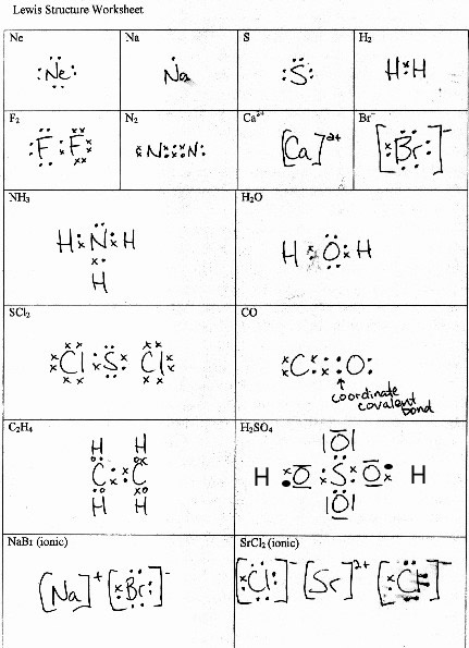 Printables Lewis Structure Worksheet With Answers Tempojs ...