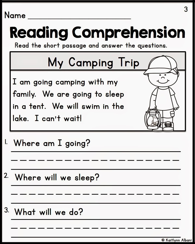 Reading Comprehension Kindergarten Worksheets Free Fiction