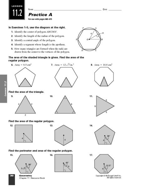 Regular Polygons Worksheets The Best Worksheets Image Collection