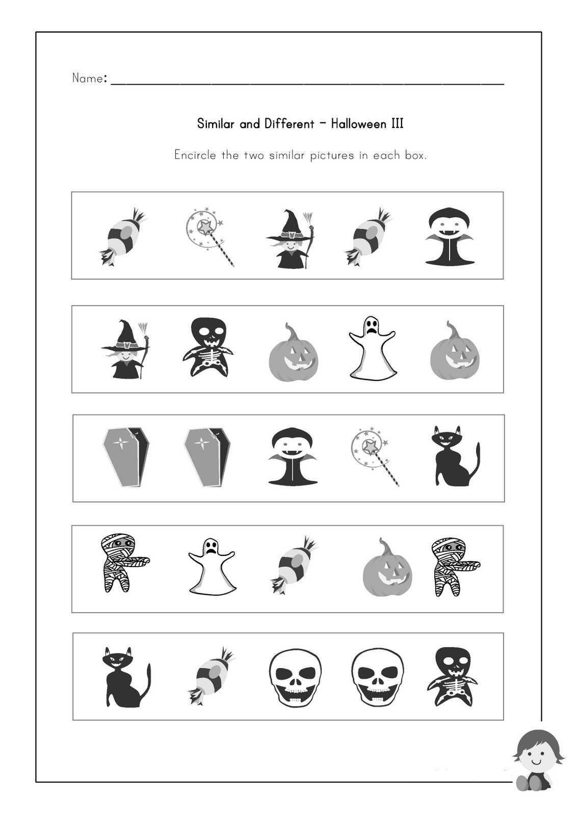 Same And Different Worksheets For Kids – Worksheets Samples