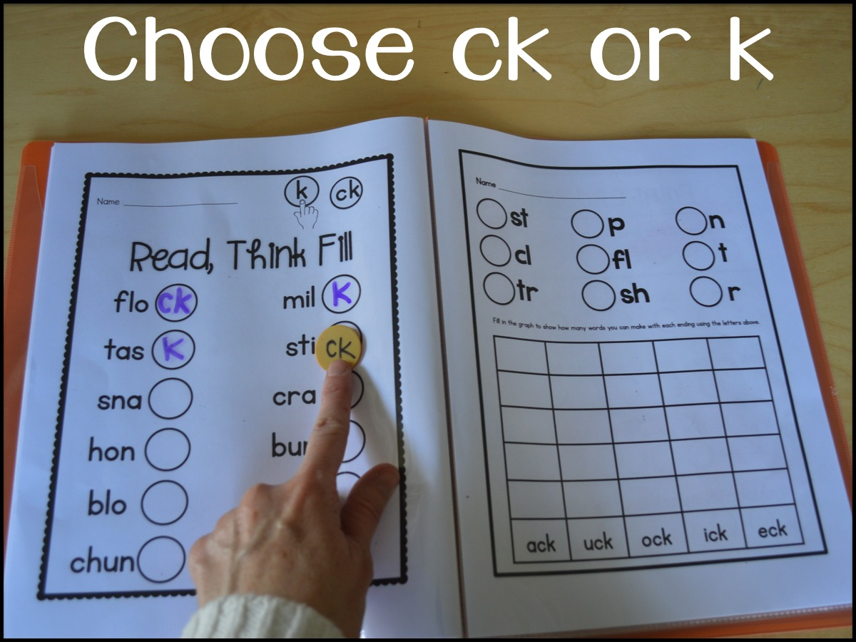 Sarah's First Grade Snippets  Teaching The Ck Rule