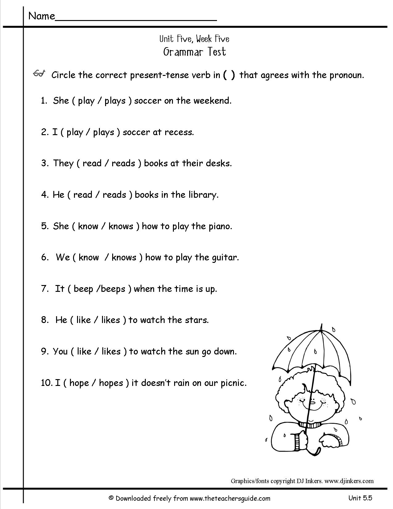 Second Grade Pronoun Worksheets Free Library Download Holiday Math