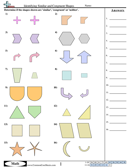 Similar And Congruent Worksheet The Best Worksheets Image