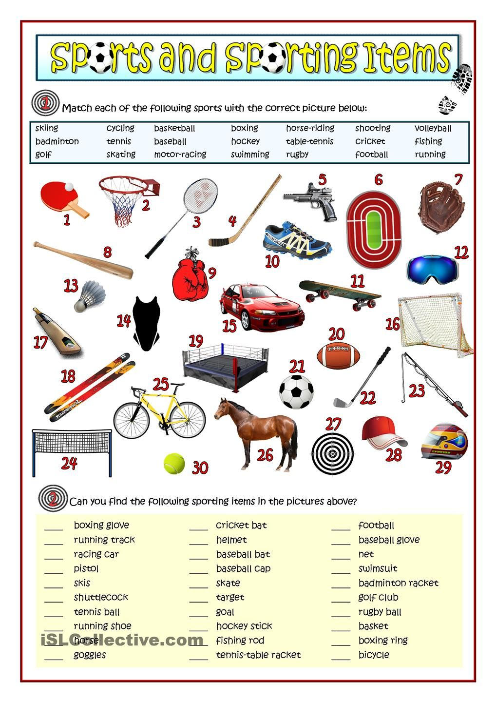 Sports And Sporting Items