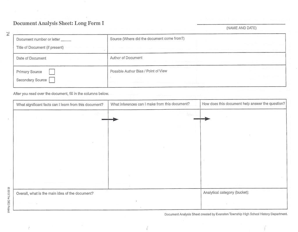 Sugar Document Analysis Sheet