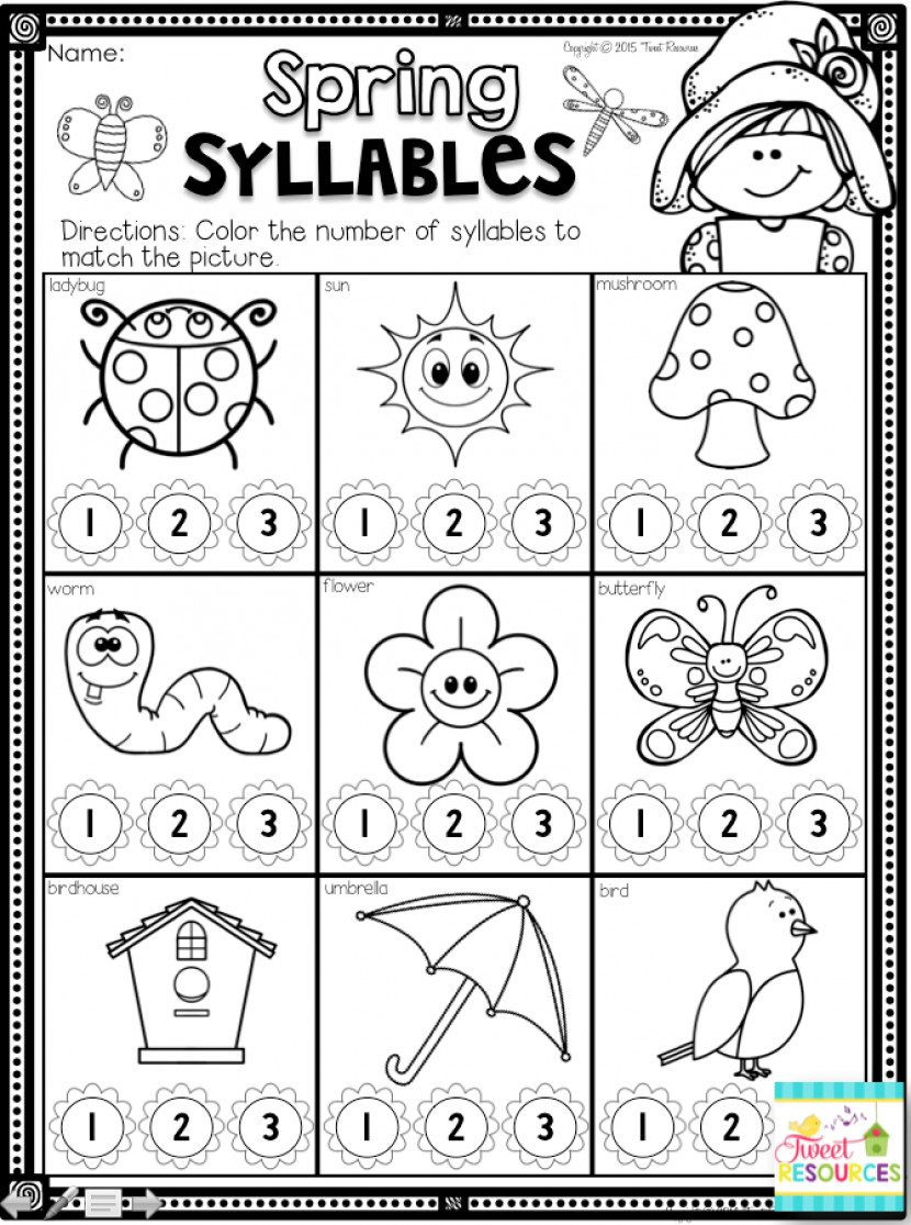 Syllable Worksheets For Kindergarten Inspirational Syllable