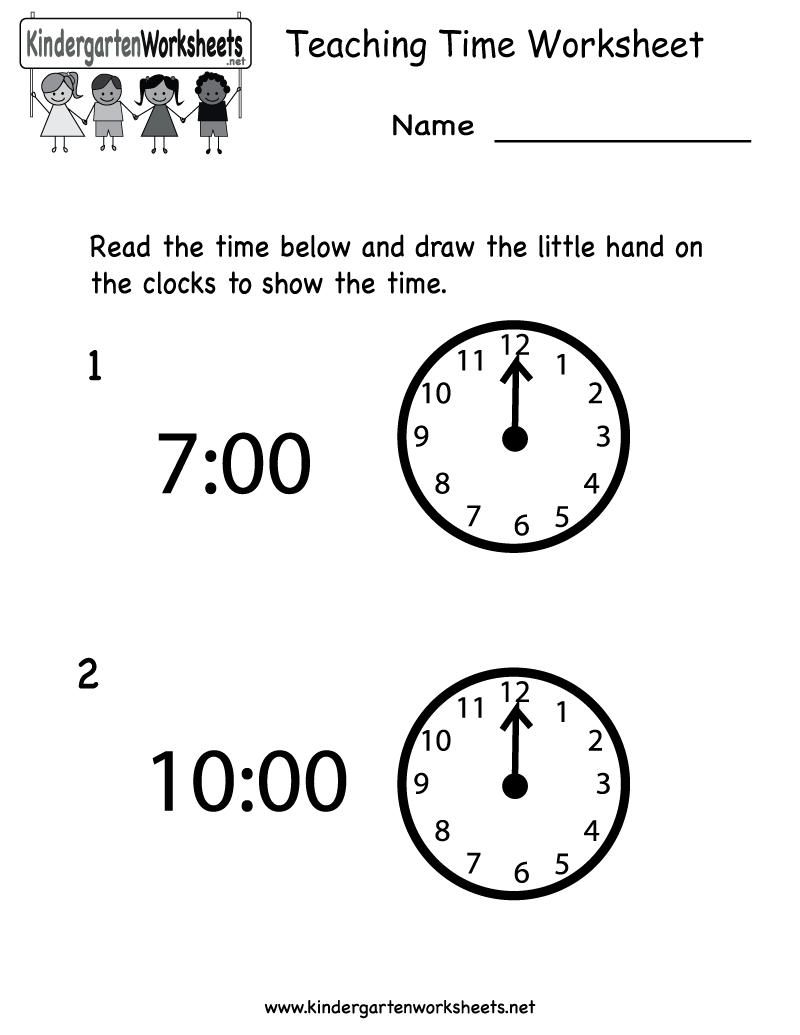 Teacher Worksheets For Kindergarten