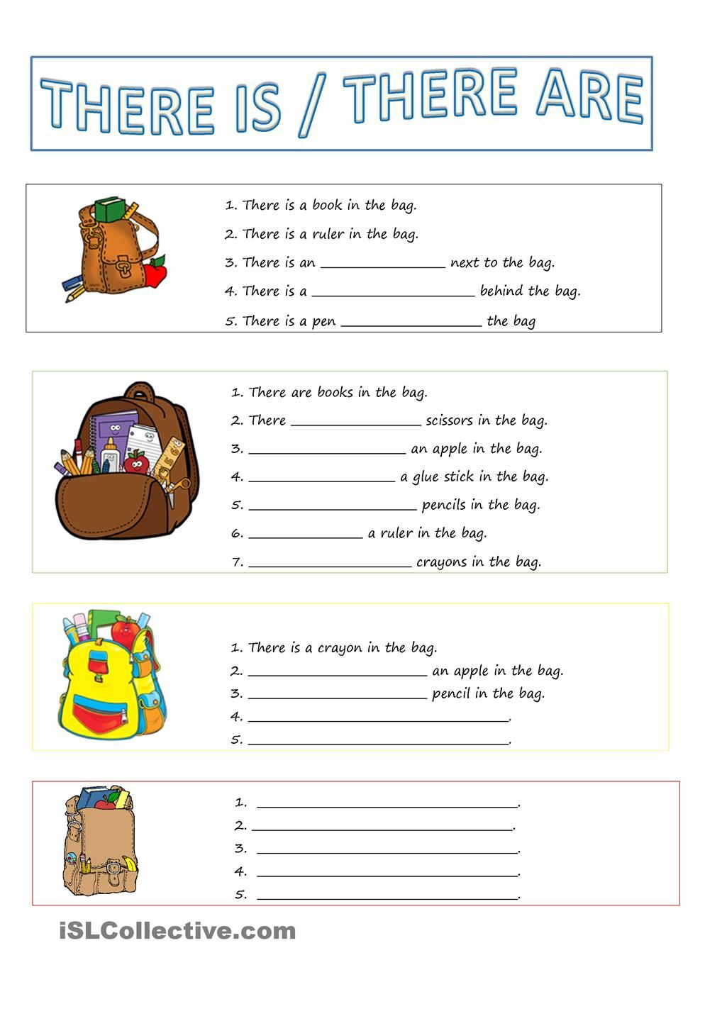There Is   There Are  Esl Worksheet Of The Day By Mimozder  March