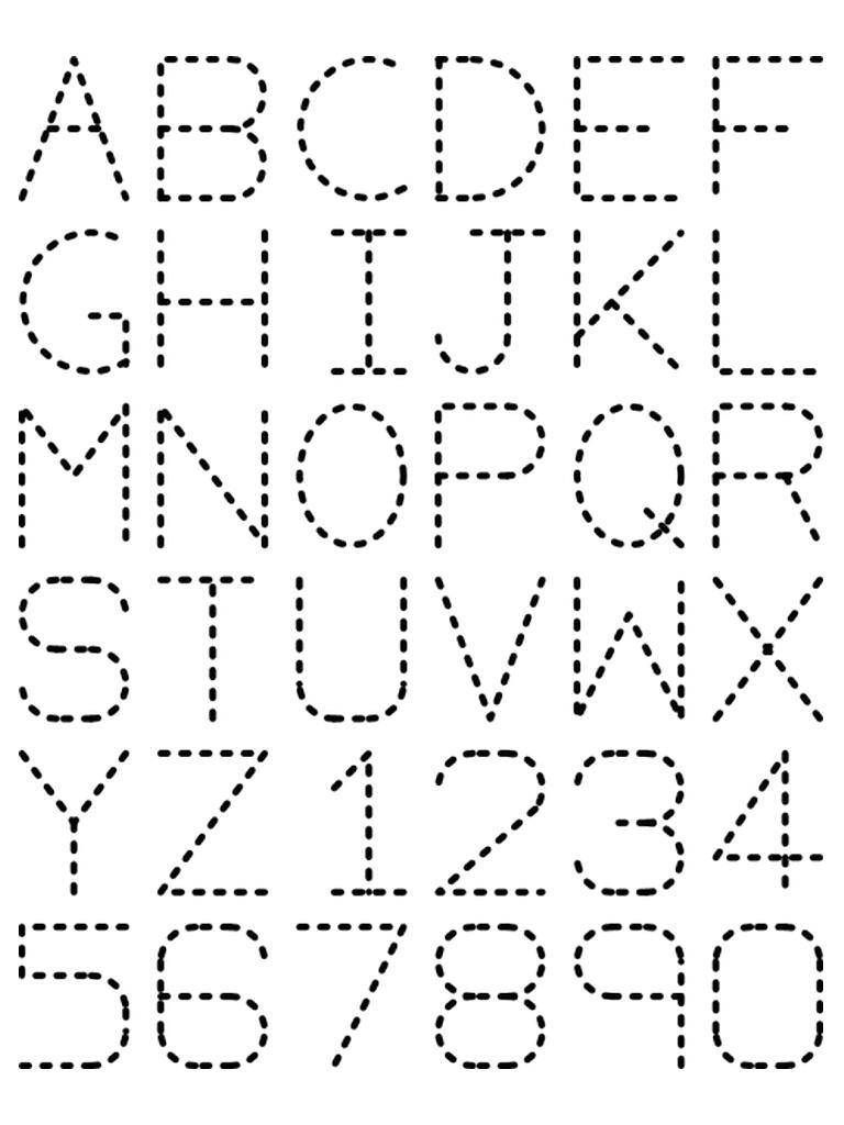 Traceable Alphabet