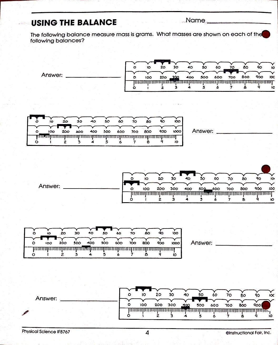 Worksheets Triple Beam Balance Worksheet how to read a four beam balance scale new images images