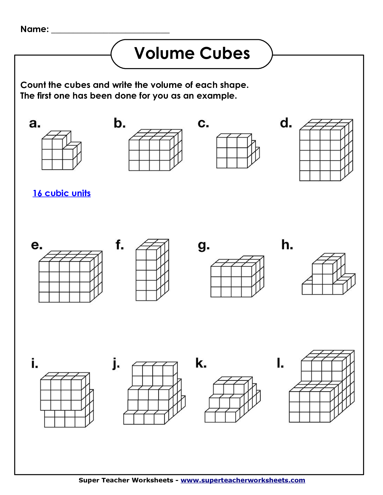 Volume Maths Worksheets The Best Worksheets Image Collection