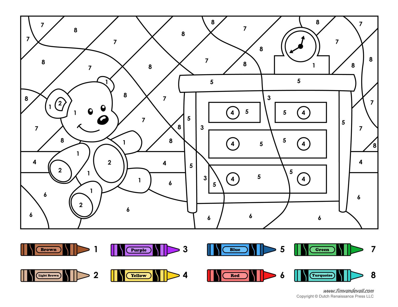 Wonderful Color By Numbers Free Printables Bes  15136
