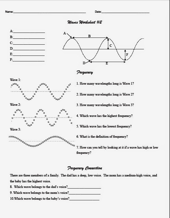 Worksheet Labeling Waves Answer Key Page 2