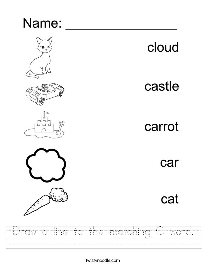 Worksheet Pictures C