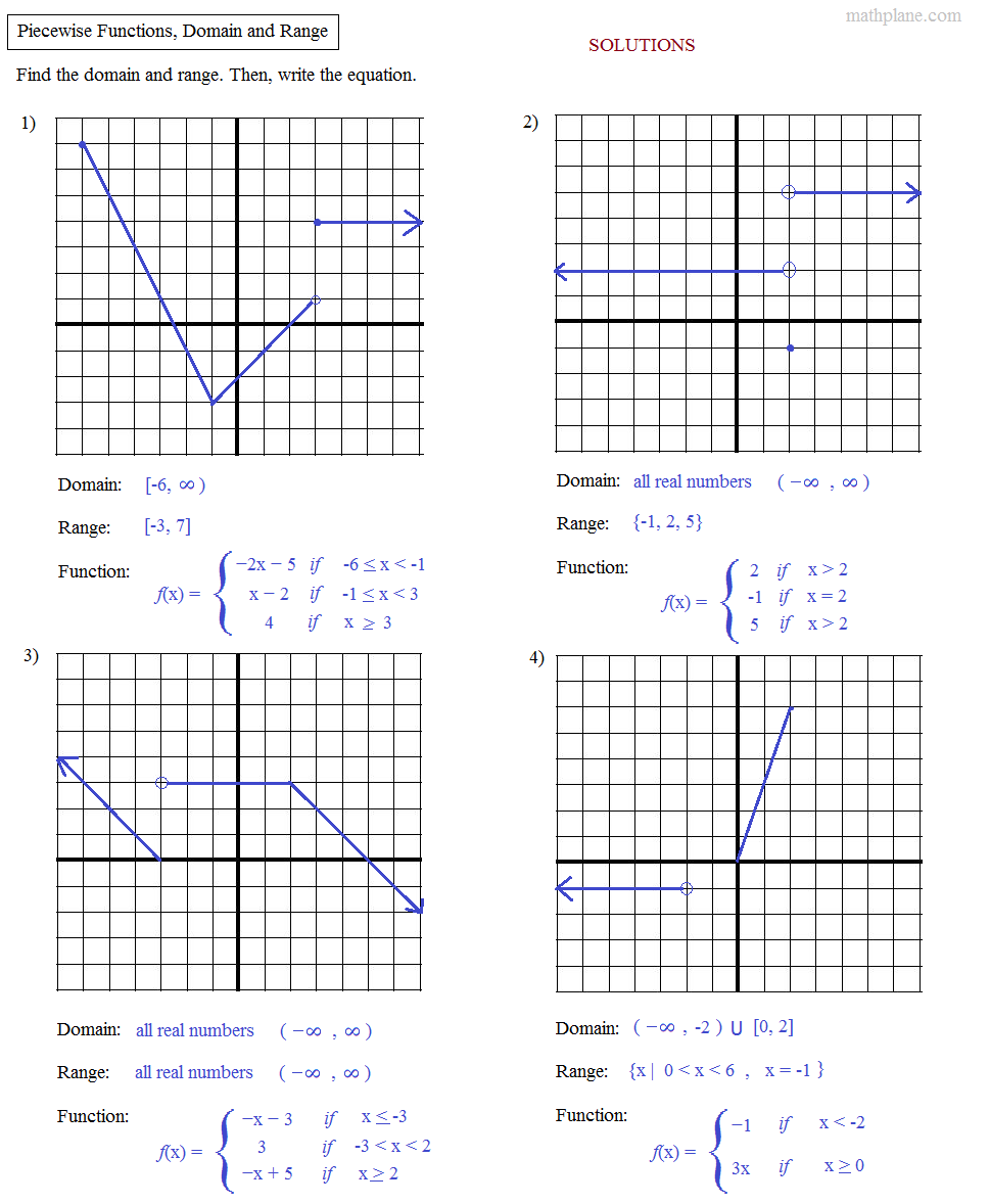 Worksheet Piecewise Functions Algebra 2 Answers Worksheets For All