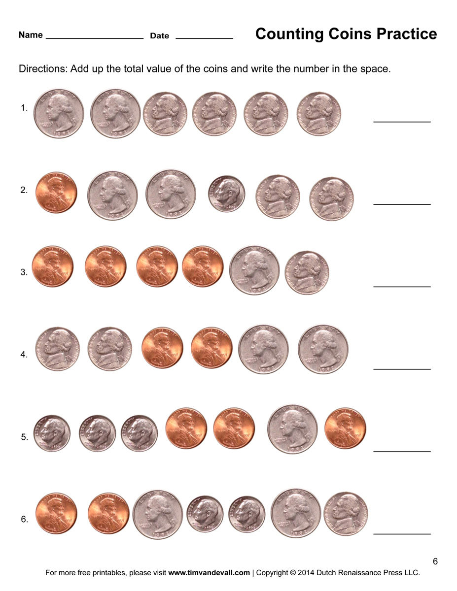 Worksheet Works Counting Coins