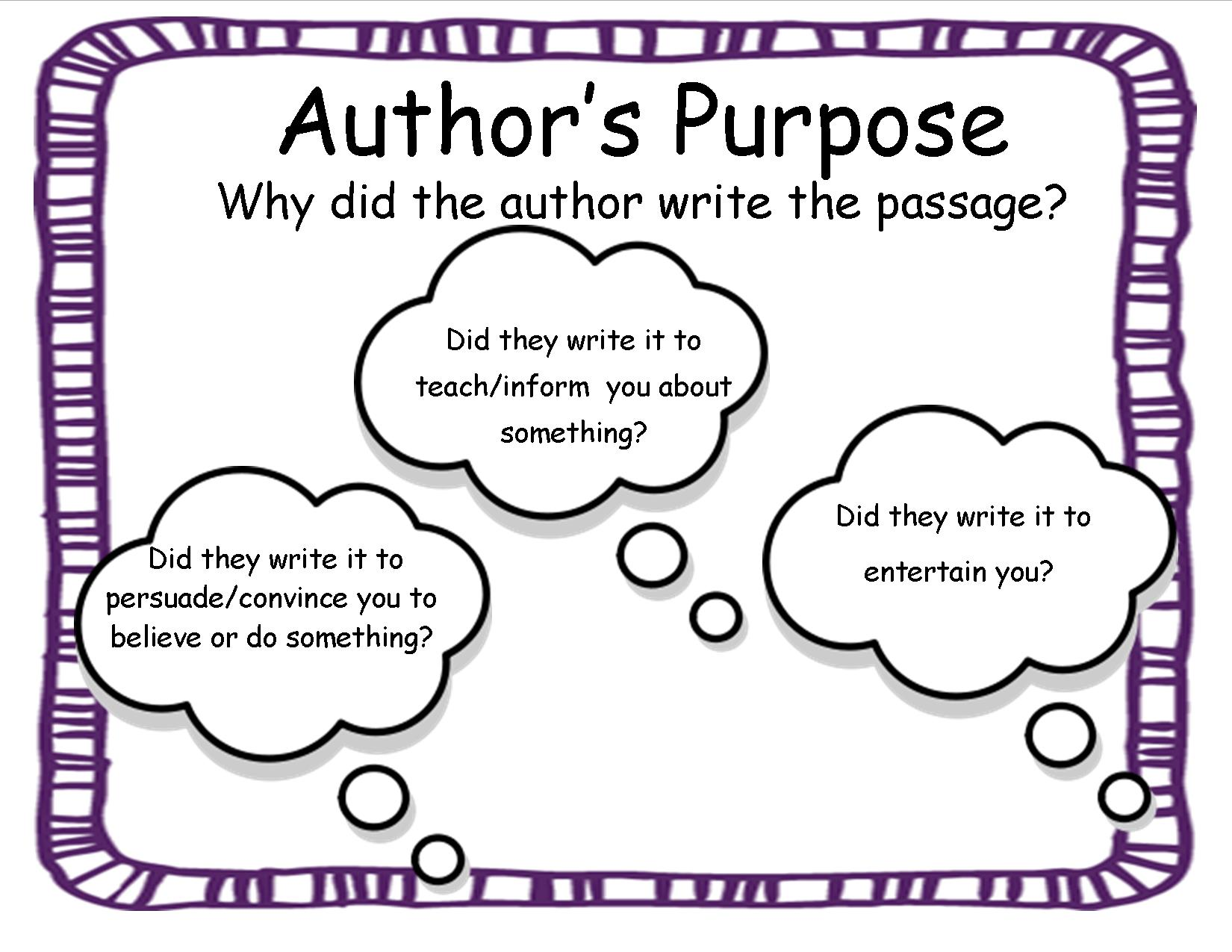 Worksheets  Authors Purpose Worksheets  Cricmag Free Worksheets