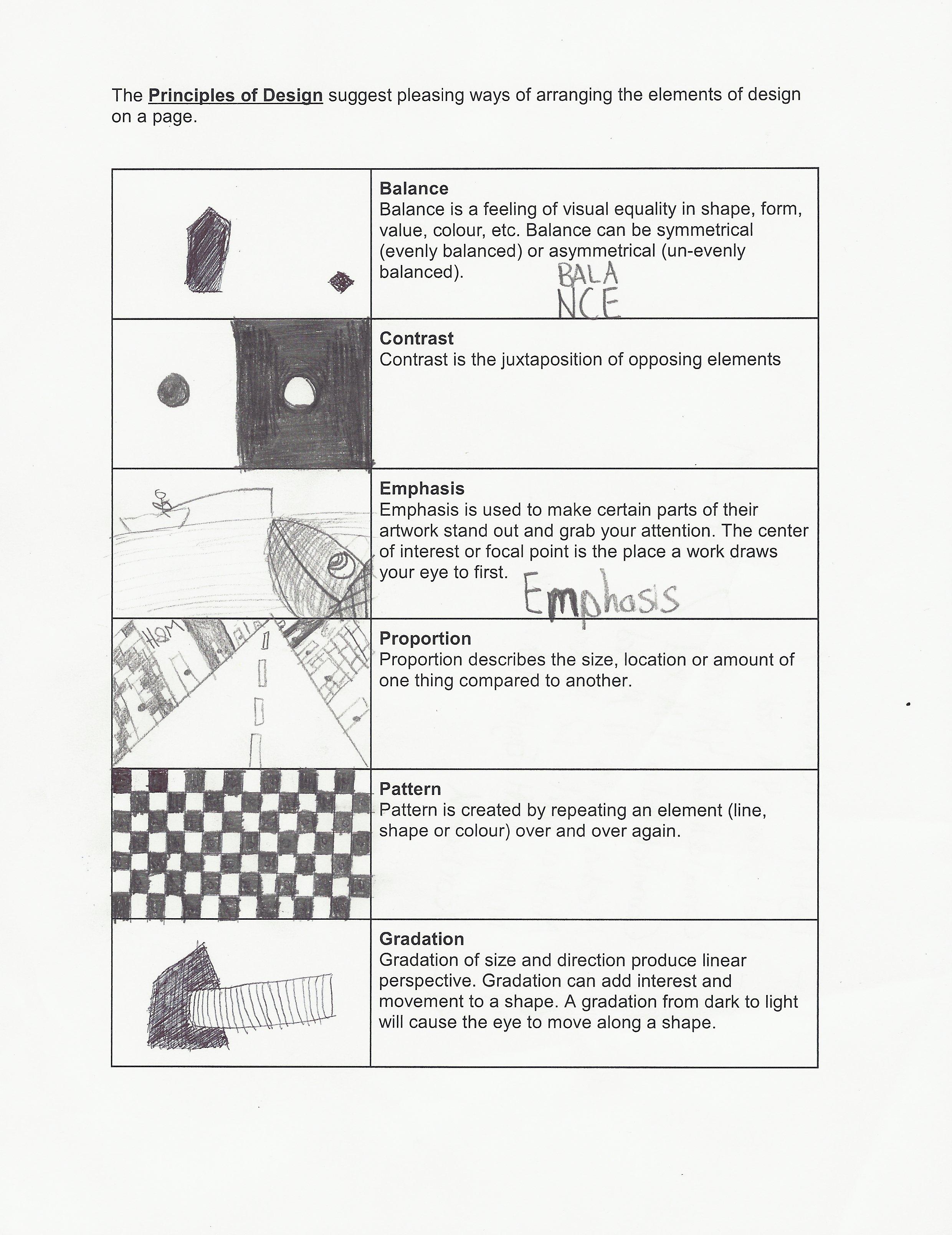 Worksheets  Principles Of Design Worksheet  Cricmag Free