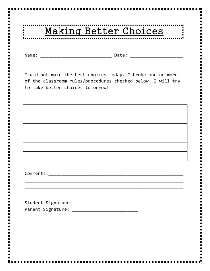Worksheets For Adhd Worksheets For All