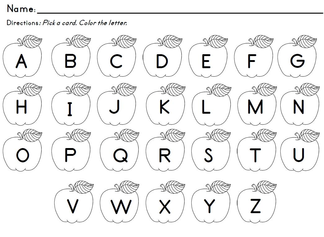Worksheets For Kindergarten Letter Recognition