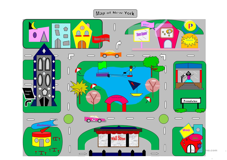 13 Free Esl City Map Worksheets