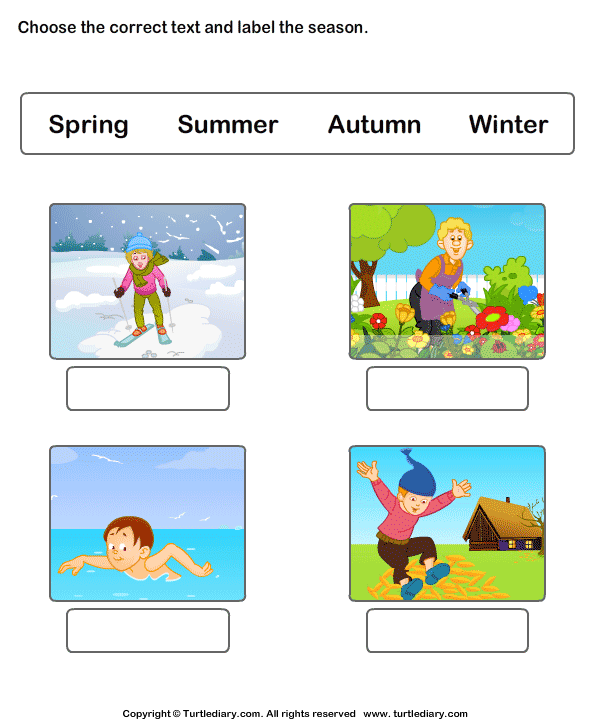 197 Free Esl Seasons Worksheets Worksheet