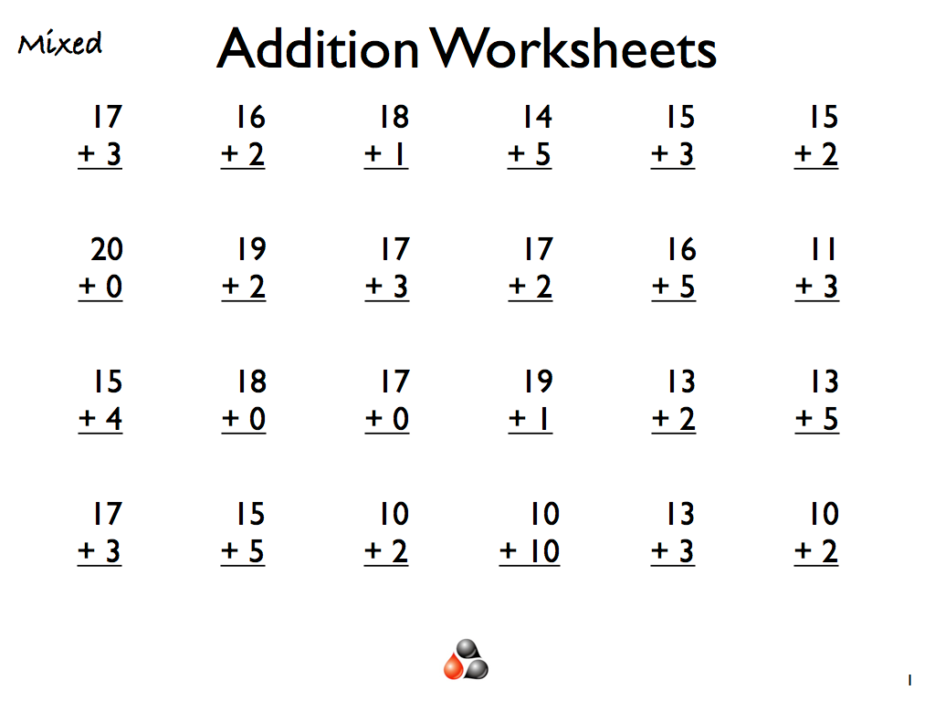 1st Grade Addition Worksheets Printable