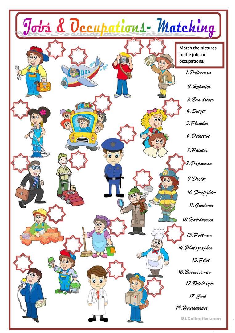 201 Free Esl Occupation Worksheets