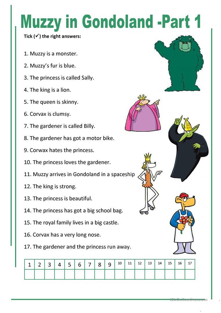21 Free Esl Muzzy Worksheets