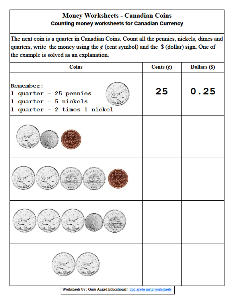 adding coins worksheets 2nd grade