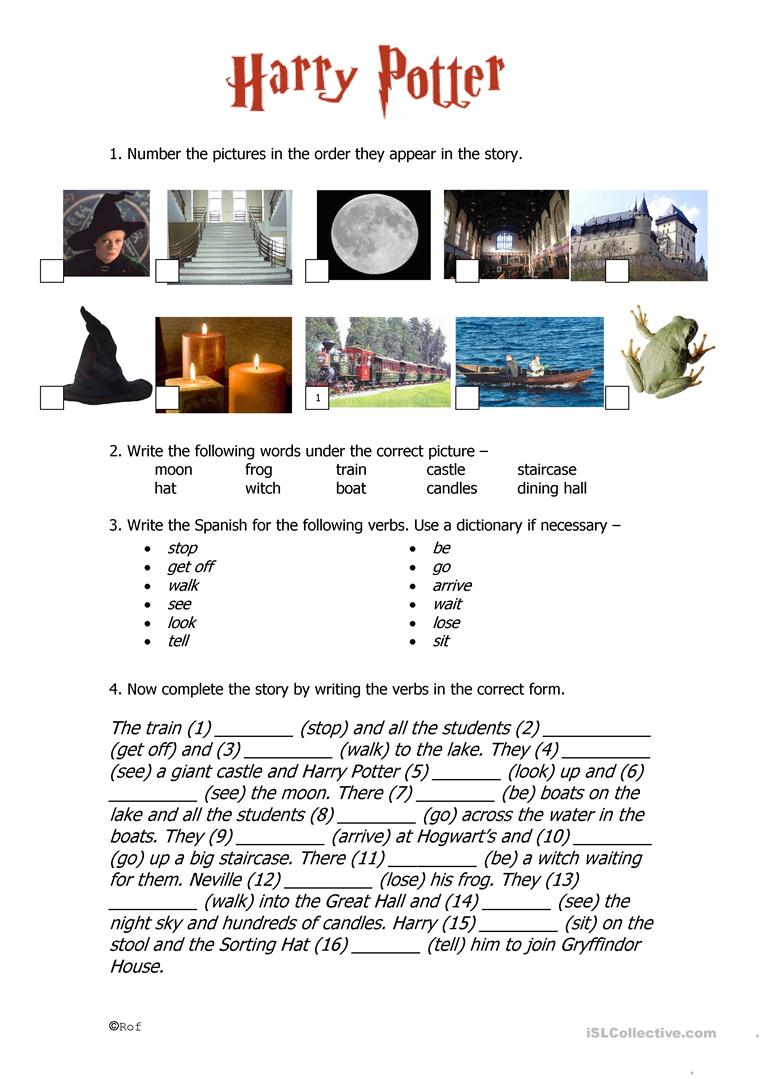 44 Free Esl Harry Potter Worksheets
