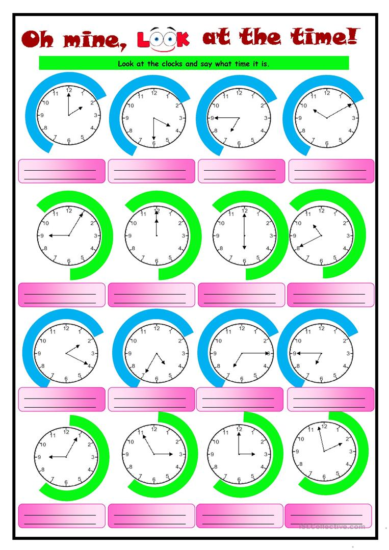 54 Free Esl Telling The Time Worksheets