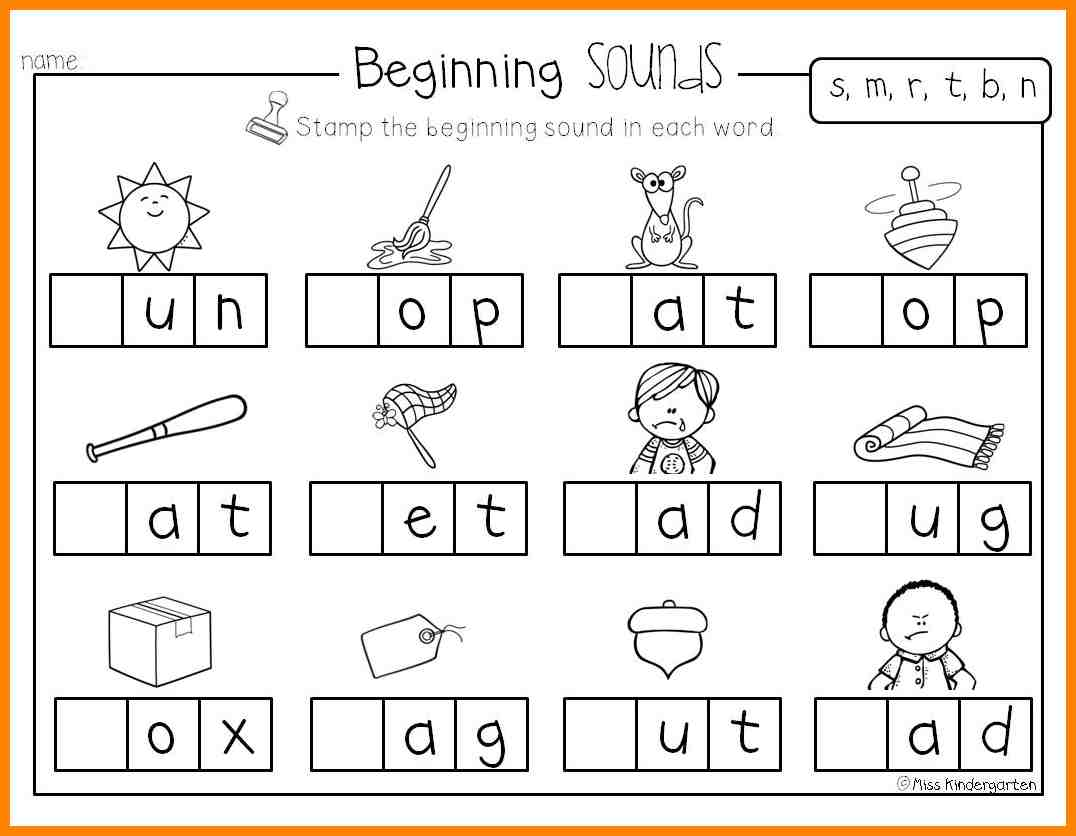 5 Beginning Sounds Worksheets Liquor Samples Initial Sound Fluency