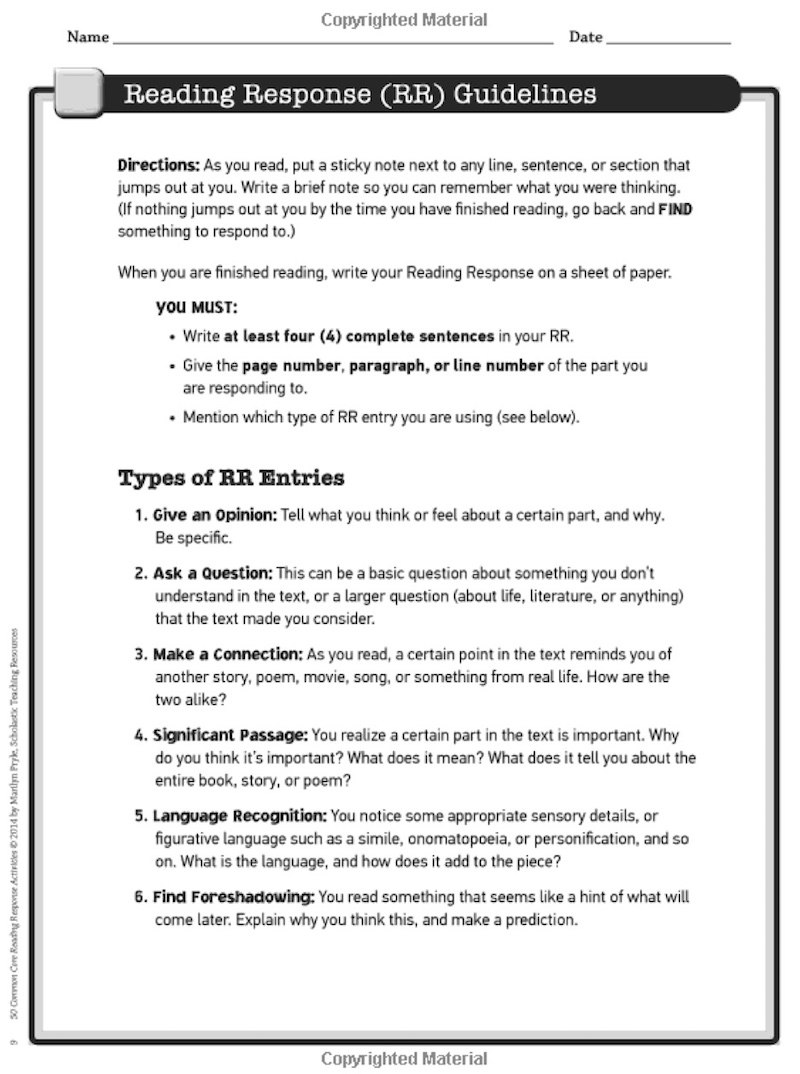 5 Reading Response Activities To Invite Higher Thinking