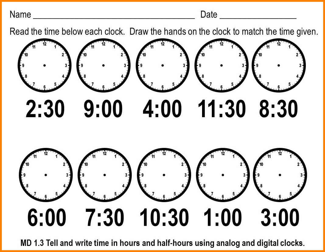 7+ Time Telling Worksheets