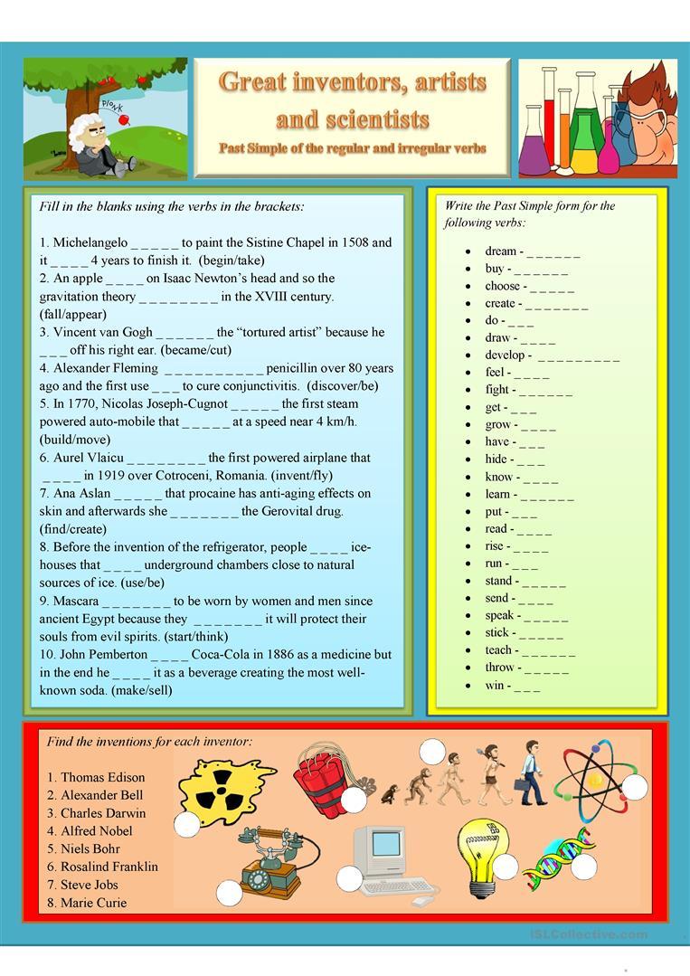 88 Free Esl Science Worksheets