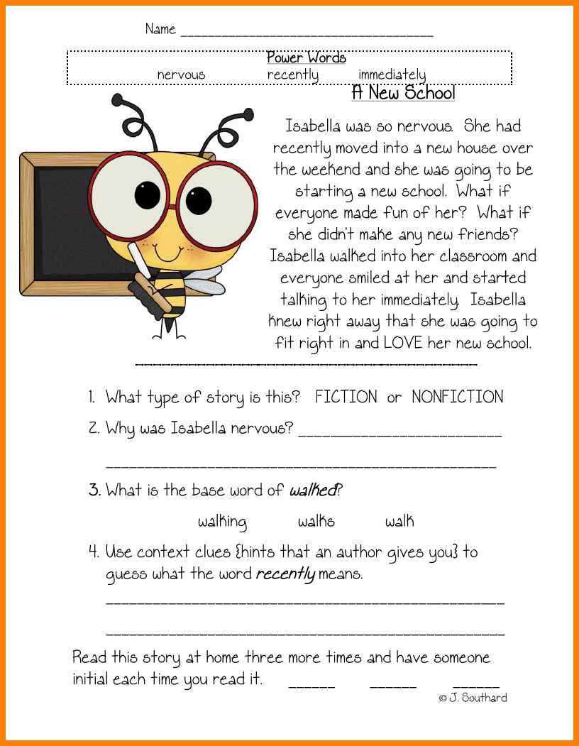 9+ 1st Grade Reading Comprehension Worksheets