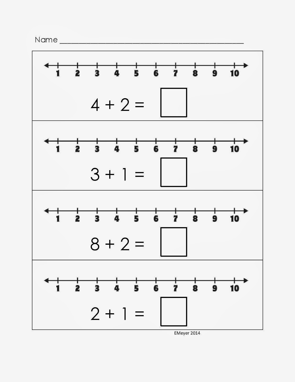 Additions  Additions Number Line Subtraction Worksheets 1st Grade