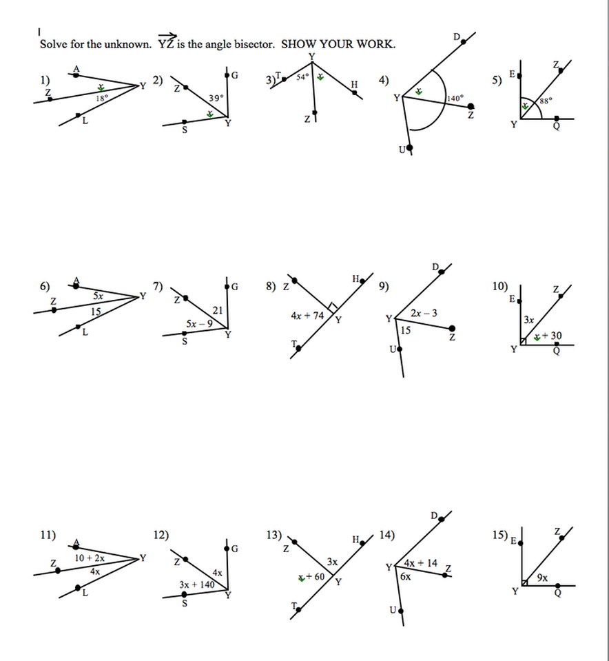 Additions  Angle Addition Postulate Worksheets For All