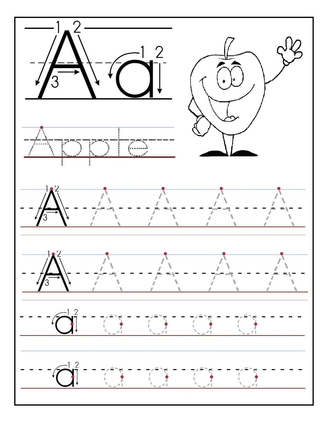 Agreeable Free Pre K Letter Tracing Worksheets For Tracing The