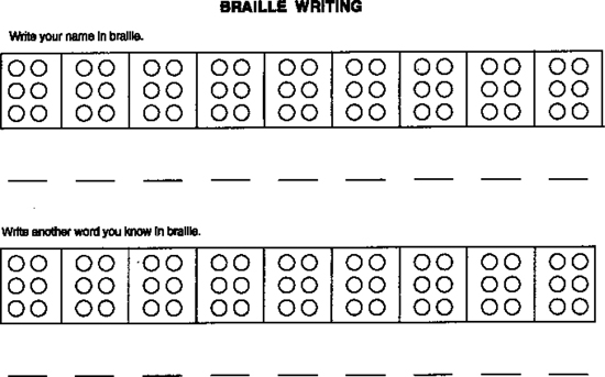 All Worksheets Braille Worksheets Printables Printable