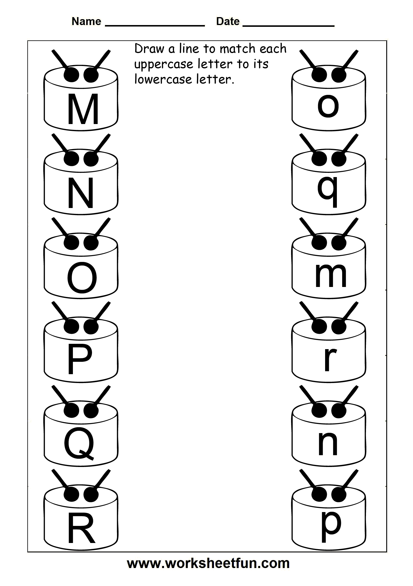 Alphabet Picture Matching Worksheet