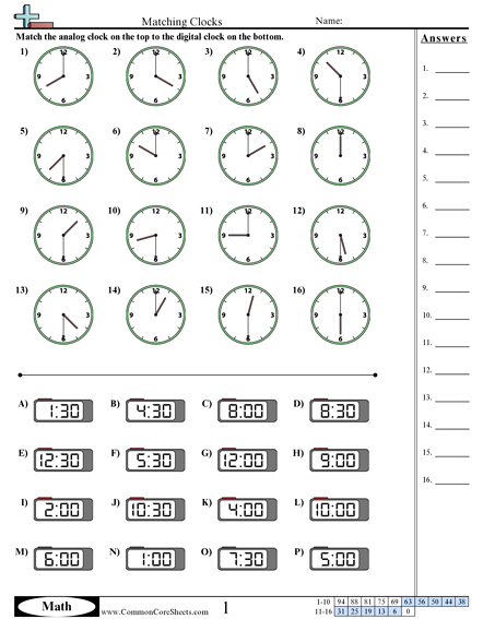 Analog And Digital Clock Worksheet The Best Worksheets Image