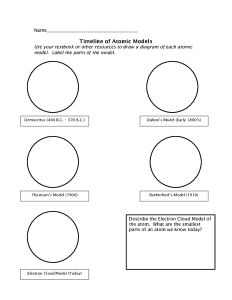 Atomic Model Worksheet The Best Worksheets Image Collection
