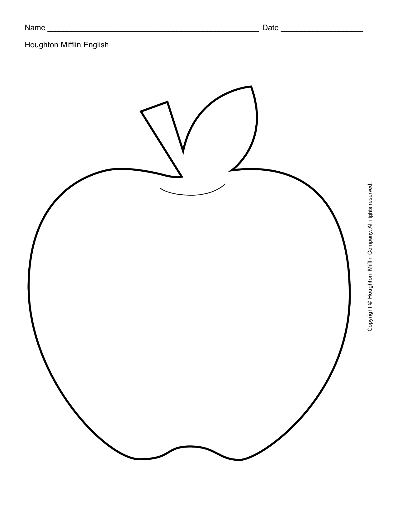 Beautiful Apple Print Out Fruits Coloring Pages Nice For Kids