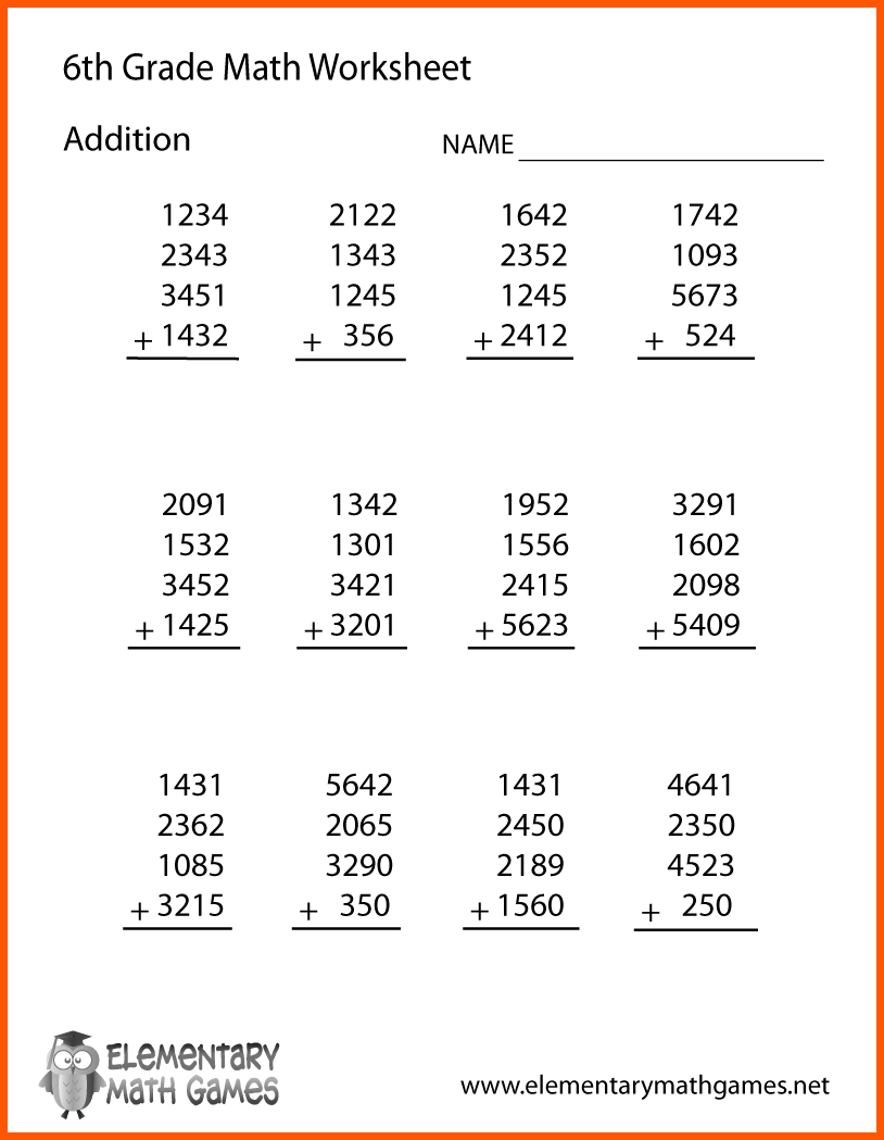 Best Solutions Of Printable Math Worksheets 6th Grade 14 Sixth