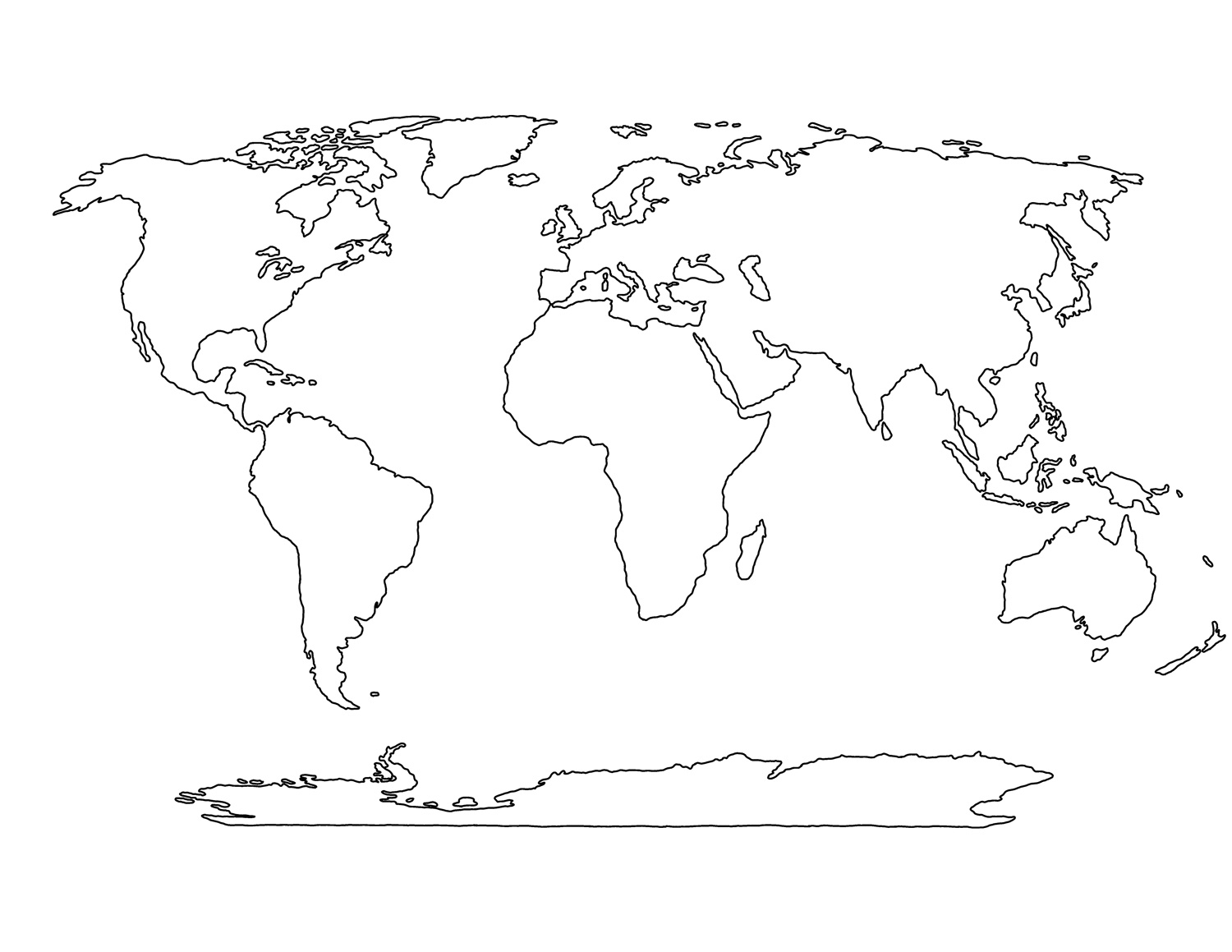 Blank World Map Printable Social Studies Worksheets Samples Craft And