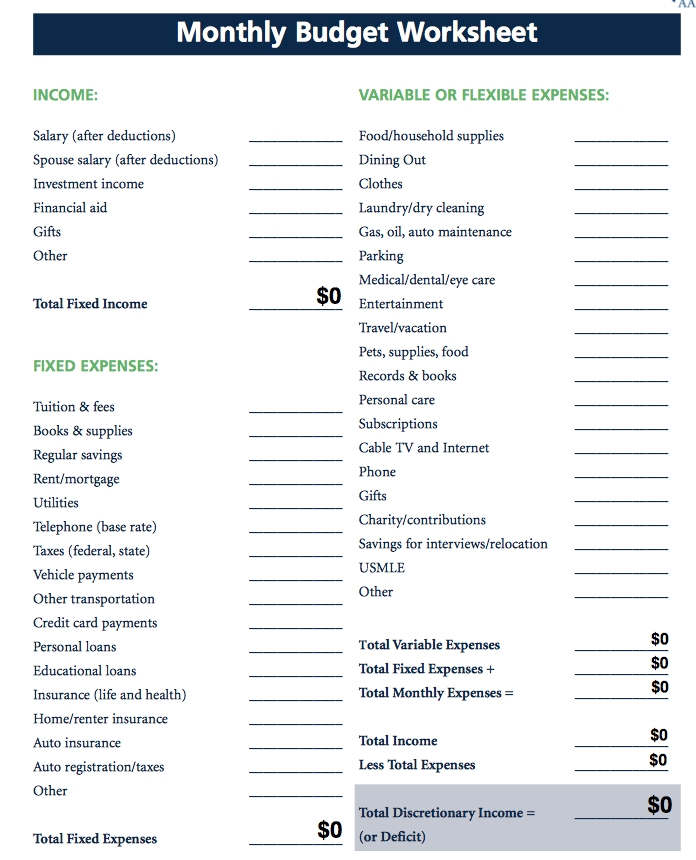 Budget Expenses Worksheet The Best Worksheets Image Collection