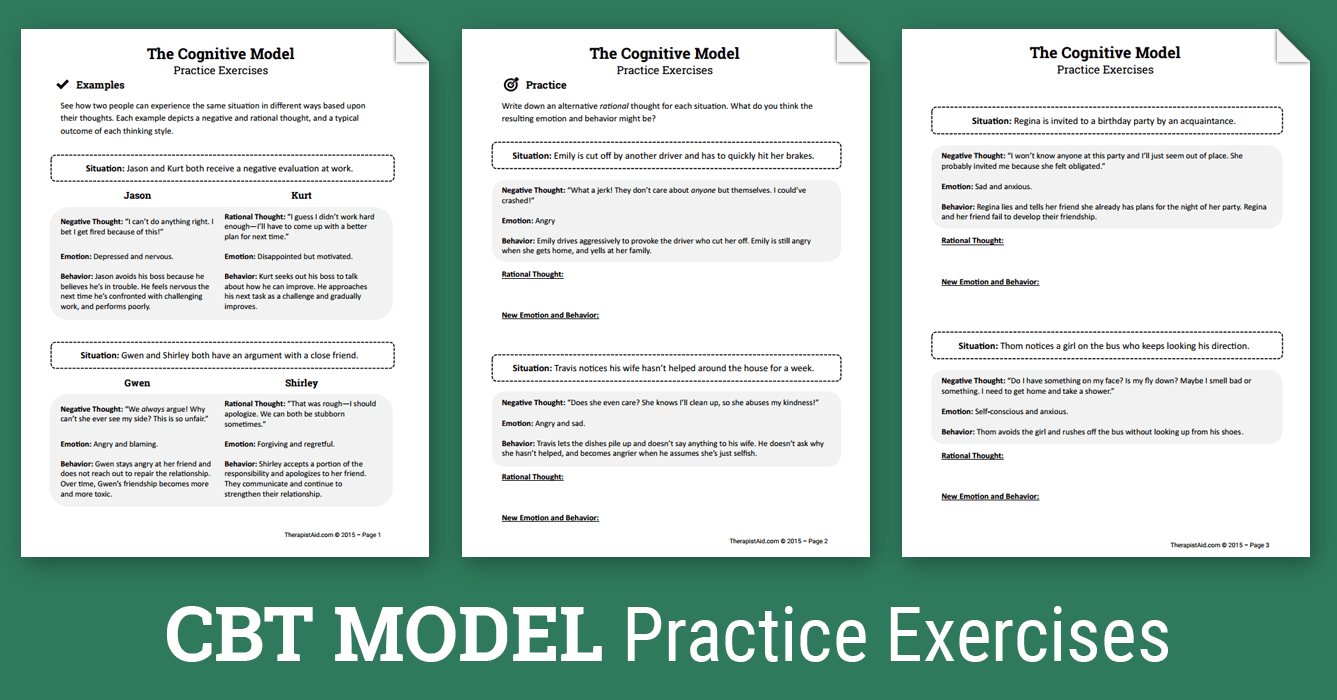 Cbt Practice Exercises (worksheet)